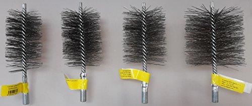 Cepillo para tubo de estufa, cepillo de alambre, cepillo para chimenea, cepillo para chimenea, de acero inoxidable V4A, 100 mm