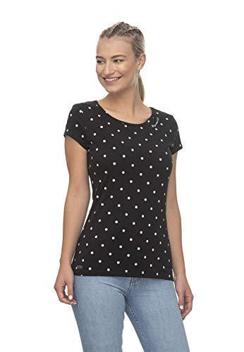 Ragwear T-Shirt Damen T-Shirt Mint DOTS 2011-10023 Schwarz Black 1010, Größe:M