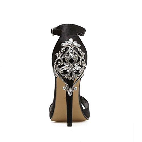 CLEARANCE SALE! MEIbax sommer - mode luxus diamond hochhackigen sandalen party - hochzeit mit frauen (39, Schwarz)