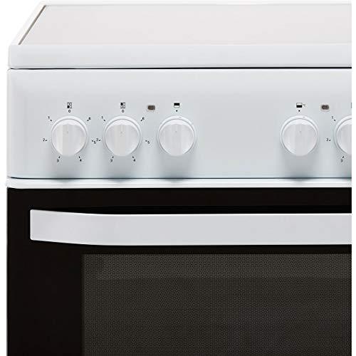 HOTPOINT HD5V92KCW - Olla eléctrica con doble cavidad (50 cm), color blanco