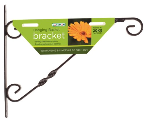 Gardman Unknown Standard Hanging Basket Bracket, Black, 30 cm, 12-Inch