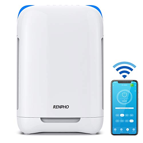 RENPHO Smart WiFi Air Purifier for Home Large Room,HEPA Filter Air Purifiers for Allergies and Pets,Air Purifiers for Bedroom,Traps Allergens,Smoke,Odors,Mold,Dust,Germs,Pet Dander,RP-AP001S
