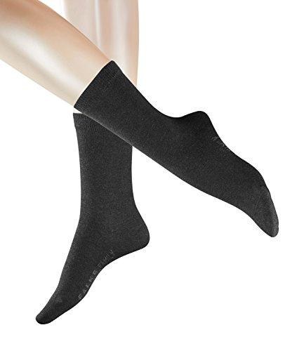 FALKE Damen Family Socken 47675 6 Paar, Farbe:Grau, Größe:35-38, Artikel:-3089 anthracite mel.