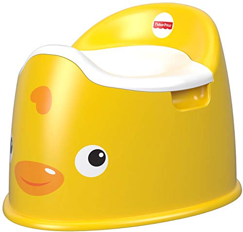 Fisher-Price GCJ81 - Entchen Töpfchen Toilettentrainer, Kinder Toilettensitz mit Tiermuster, gelb