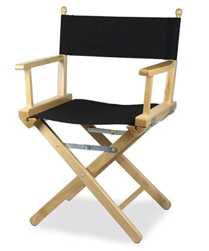Regista P–Silla de director de escena de madera, color natural y tejido negro