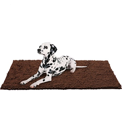 Dog Doormat Pet Mat - 60'x30' Microfiber Super Absorbent Rug for Cleaning Dirty Paws, XL, Brown