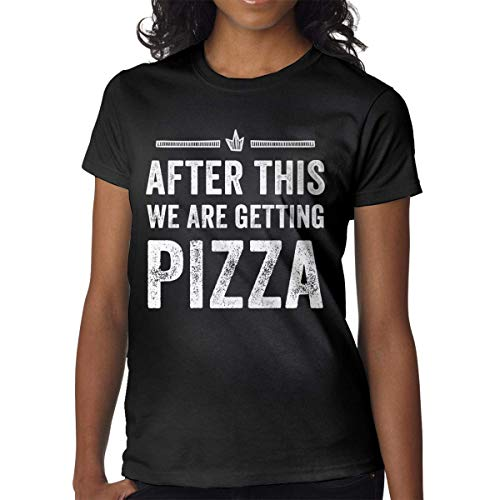 Kingloo Women's T-Shirt Personalizzata After This We Are Getting Pizza T-Shirt Manica Corta con Grafica Divertente