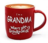 Triple Gifffted I'm a Grandma, What is Your Superpower? Great Coffee Mug For Best Grandma Ever Day, Gifts From Grandson Granddaughter Grandkids, Birthday, Christmas, Mothers, Gift Cups/Mugs
