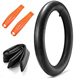 20x4 Fat Tire Bike Inner Tube with Schrader Valve 35mm, 20 x 4.0 inch Premium Butyl Rubber Bycicle Tube Includes 2 Durable Tire Levers for Fat Tire Bike