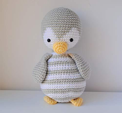 Pingouin peluche 27cm crocheté main Amigurumi Marshmallow Toys