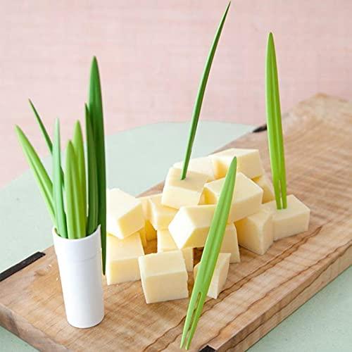 JIAKUAN 10 piezas de recogida de bambú de buffet piña cact