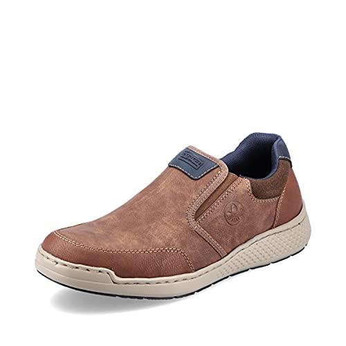 Rieker Herren Low-Top Sneaker B5860, Männer Sneaker,Laufschuhe,Freizeit,sportlich,Men's,Man,Men,Halbschuhe,straßenschuhe,braun (25),45 EU / 10.5 UK