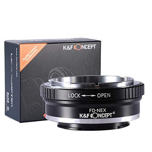 K&F Concept Canon FD FL Adapter Sony ∙ Kompatibel mit Sony E-Mount Kamera (NEX/Alpha) ∙ Objektivadapter für Canon FD Objektiv