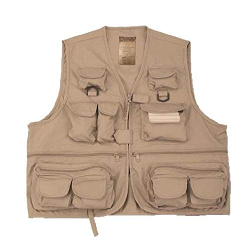 Master Sportsman Adult 26 Pocket Fishing Vest (Khaki, Large)