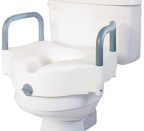 Medline G30270AH Locking Raised Toilet Seats with Arms