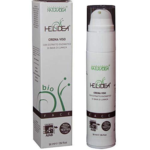 HELIDEA Crema Viso certificata ECOBIO COSMESI (AIAB) con Bava di Lumaca (50 ml) - Nickel, Chromium, Cobalt TESTED