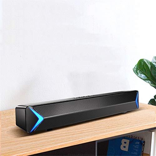 Release Barra De Sonido AUX USB Altavoz De La Computadora con Cable E Inalámbrico Bluetooth Home Theatre FM Radio Barra De Sonido Envolvente (Color : White)