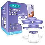 Lansinoh Botellas de almacenamiento de leche materna, 4 unid