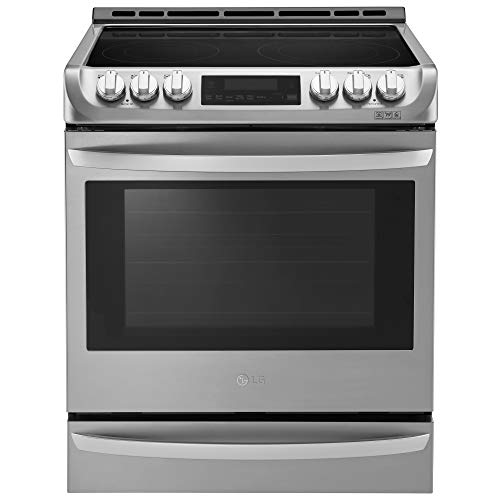 """LG LSE4613ST 30"""" Stainless Steel Electric Slide-In Smoothtop Range - Convection"""