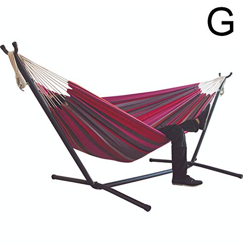 Gebuter Large Hammock Chair Heavy Duty Portable Comfort Durability Striped Hanging Chair Large Hammock Chair Without Shelf Camping for Outdoor Indoor