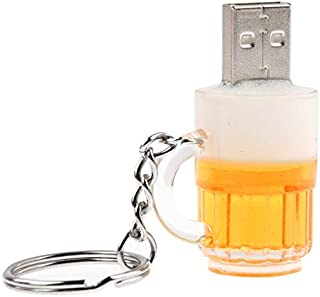 QGT USB Flash Drives Beer Keychain Style USB Flash Disk with 32GB Memory