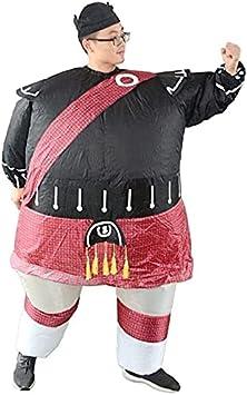 Muñecas inflables plegables de la historieta camina divertido samurai ropa para adultos divertidos disfraces de Halloween Trajes de Navidad inflable Traje divertido Vestido de entretenimiento