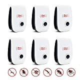 6 Pack Ultrasonic Pest Repeller, Suitable for Mosquitoes, Flies, Bed Bugs, Cockroach, mice