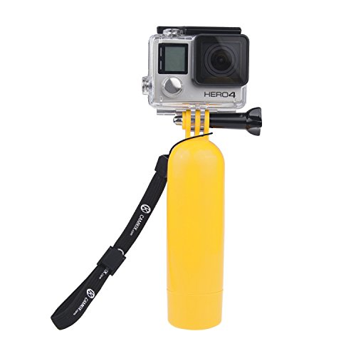CamKix Floating Hand Grip compatible with Gopro Hero 7, 6, 5 Black and Session, Hero 4 Session, Black, Silver, Hero+ LCD, 3+, 3 and DJI Osmo Action