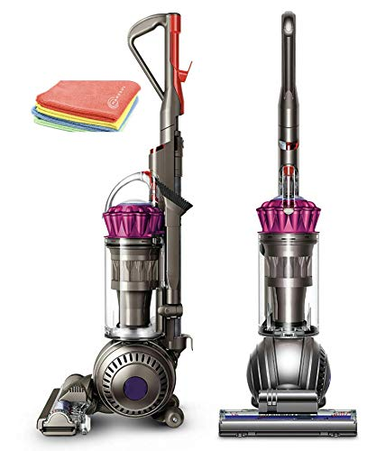 Flagship Dyson Ball MultiFloor Original Upright Vacuum:High Performance HEPA Filter, Bagless Rotating Brushes, Height Adjustment, Telescopic Handle, Self Propelled, Fuchsia + Marxsol Microfiber Cloth