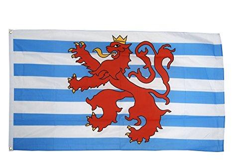 Fahne / Flagge Luxemburg Löwe + gratis Sticker, Flaggenfritze®