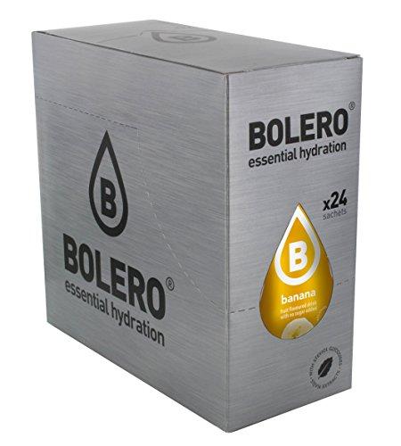 Bolero Bebida Instantánea sin Azúcar, Sabor Plátano - Paquete de 24 x 9 gr - Total: 216 gr