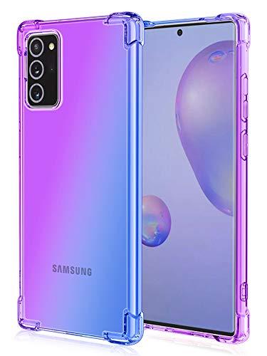 Yxiuexur Galaxy Note 20 Case Gradient Clear Slim Soft TPU Shockproof