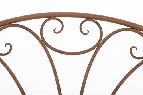 CLP Metall-Gartenbank TJURE im Landhausstil, Eisen lackiert, ca. 140 x 60 cm Antik Braun - 4