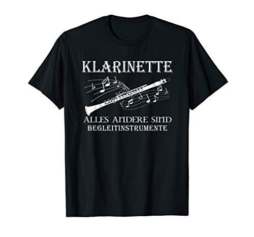 Klarinette alles andere sind begleitinstrumente t-shirt
