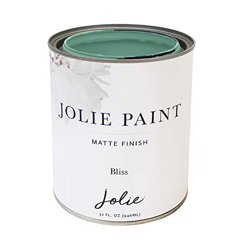 Jolie Paint - Premier Chalk Finish Paint - Matte Finish Paint for Furniture, cabinets, Floors, Walls, Home Decor and Accessories - Water-Based, Non-Toxic - Bliss - 32 oz (Quart)