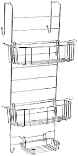 Zenna Home, Chrome 7803SS, Over-The-Shower Door Caddy