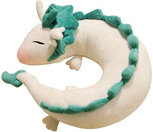 QIXIDAN Juguetes Blandos 28 19cm Dragón de Dibujos Animados Anime en Forma de U muñeca Almohada Suave y Lindo Cuello de dragón Almohada Juguetes de Peluche