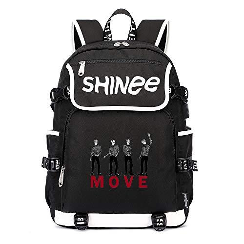 Shinee Rucksäcke Schulranzen Wandern Tasche Rucksack Daypack Trekkingrucksack Mann und Damenmode Mode Sport Wild Style Shinee Backpacks (Color : Black28, Size : 45 X 37 X 16cm)