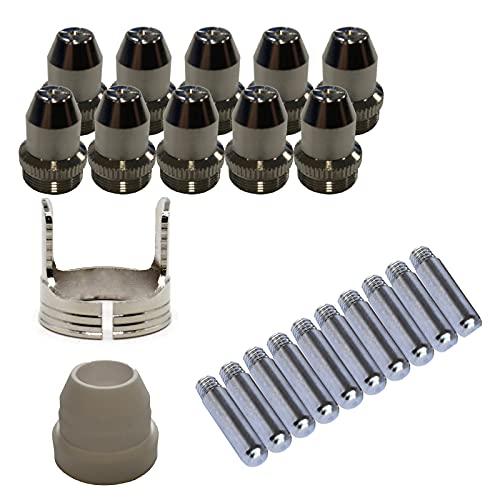 Lotos PCS22 Plasma Cutter Consumables Sets for Brown Color LTP5000D and Brown Color LTPDC2000D (22 Pieces)