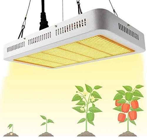 LED Pflanzenlampe 1000W Grow Lampe Pflanzenlicht Vollspektrum Derlights LED Grow Light mit IR UV wachstumslampe für pflanzen Gewächshaus Samen Knospe Gemüse und Blüte