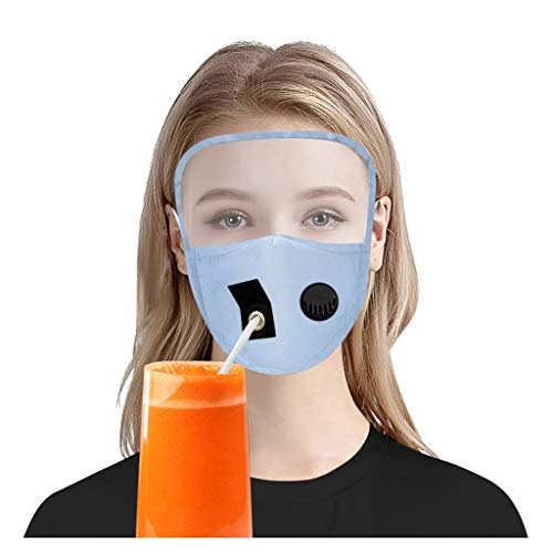 Hapae Washable Adult/Kids Face Protect Cover with Hole,Reusable Face Cloth with Eye Shield,Breathable Soft Face Cover