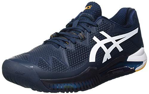 ASICS Herren Gel-Resolution 8 Tennis Shoe, French Blue/White, 43.5 EU