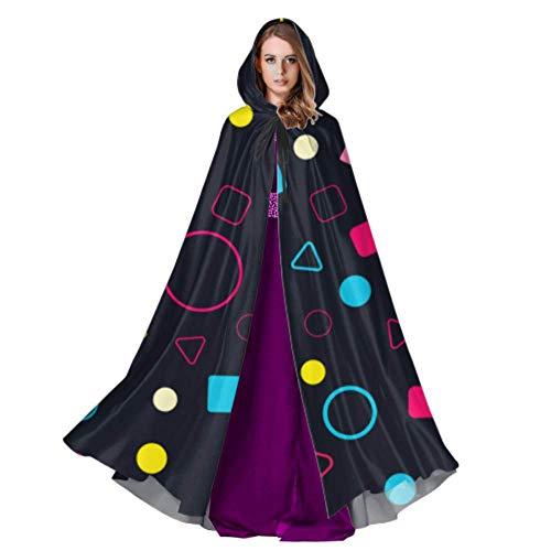 LONGYUU Futuristische Prisma Zylinder Quader Frauen Cape Mantel Cape Mantel Mantel Für Frauen 59 Zoll Für Weihnachten Halloween Cosplay Kostüme