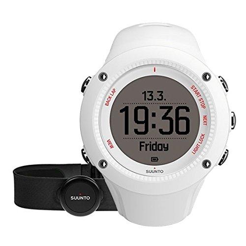 Suunto - Ambit3 Run HR - SS021259000 - Reloj GPS Multideporte + Cinturón de frecuencia cardiaca (Talla M) - Sumergible 50 m - Blanco
