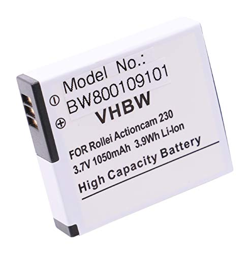 vhbw Li-Ion Akku 1000mAh (3.7V) passend für Kamera Camcorder Video Maginon Action Cam AC-800W