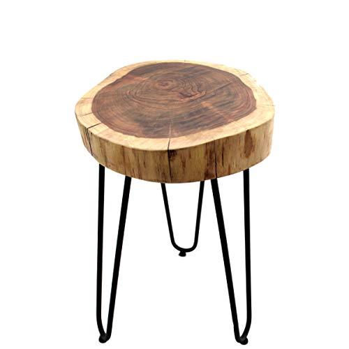 Beistelltisch, Couchtisch, Akazienholz, Massivholz, Gall&Zick (Baumscheibe Durchmesser ca 30cm)
