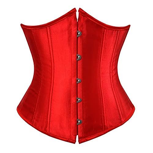DDSP Mujeres Sexy Corset Top Subbust Ropa Gótica Corsés Cintura Trainer Cinturón Shaper Underwear (Color : Sky Blue, Size : 4XL.)