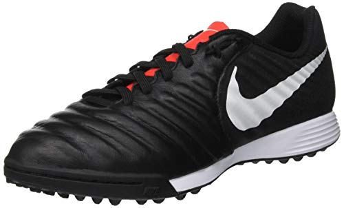 Nike Legend 7 Academy TF, Zapatillas de Fútbol Unisex Adulto, Negro (Black/Pure Platinum/Lt Crimson 006), 39 EU