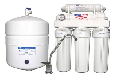Under-sink Reverse Osmosis Water Filtration System 5-stage with...