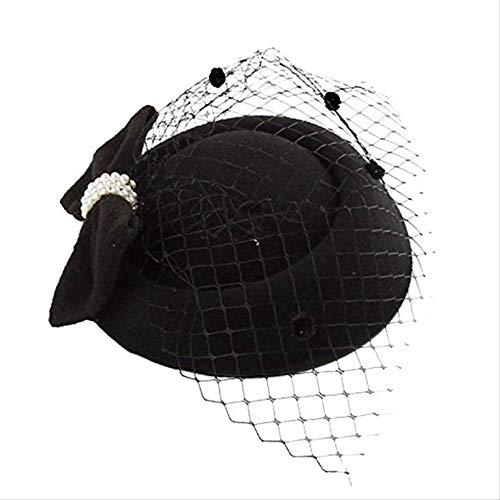Exc Mode-Hochzeit, Brauthut, Kopfschmuck/Party-Hut, Spitze Schleier, Elegante Vogelkäfig Mesh Hut, Kopfschmuck Party Haar-Accessoires